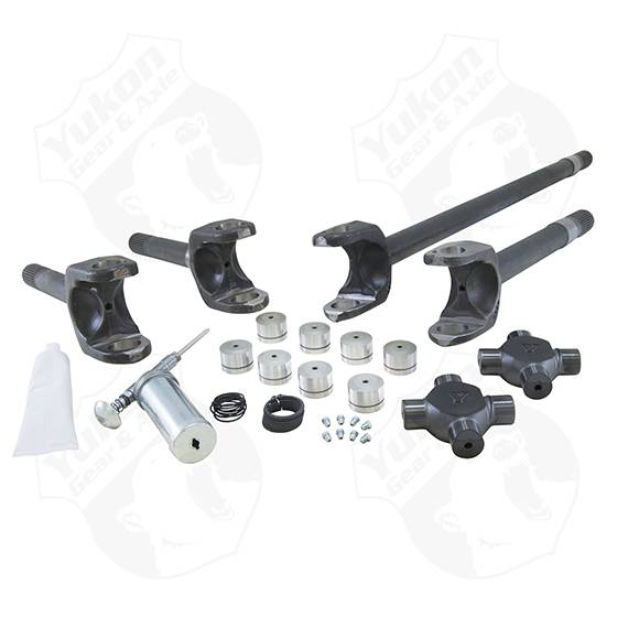 YA W24168 4340 Chrome-Moly Replacement Axle Kit with Spicer Joint for Jeep JK Rubicon 30-Spline Front Differential Yukon