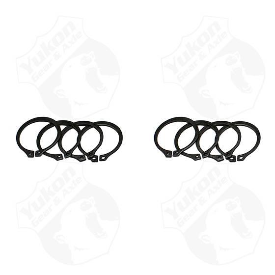 Yukon Gear & Axle - Yukon Gear 4 Full Circle Snap Rings Fits 733X U-Joint With Aftermarket Axle