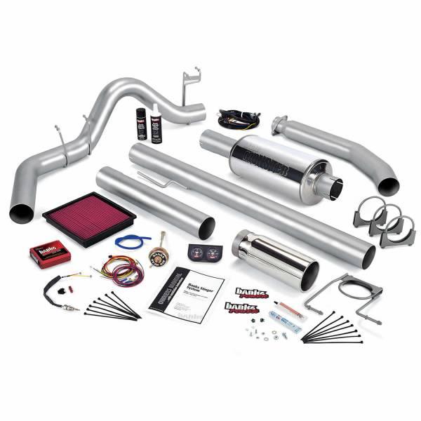 Banks Power - Banks Power Stinger Bundle Power System W/Single Exit Exhaust Chrome Tip 98 Dodge 5.9L Extended Cab