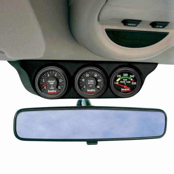 Banks Power - Banks Power Overhead Console Pod 3 Gauges 1999-2006 Chevy Truck Black