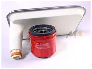 Transmission - Automatic Transmission Parts - Merchant Automotive - Allison 1000 Internal Filter and Spin on Combo, fits Deep Pan, LB7 LLY LBZ LMM, 2001-2010