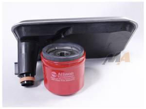 Transmission - Automatic Transmission Parts - Merchant Automotive - Allison 1000 Internal Filter and Spin on Combo, fits Shallow Pan, LB7 LLY LBZ LMM, 2001-2010