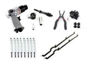 Engine Parts - Glow Plugs - Merchant Automotive - Deluxe Glow Plug Replacement Kit, LB7, 2001-2004 Duramax