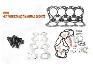 Engine Parts - Cylinder Head Parts - Merchant Automotive - LB7 Head Gasket Kit With Exhaust Manifold Gaskets and OEM Cylinder Head Bolts, Duramax