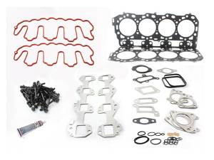 Engine Parts - Cylinder Head Parts - Merchant Automotive - LLY Head Gasket Kit With Exhaust Manifold Gaskets and OEM Cylinder Head Bolts, Duramax