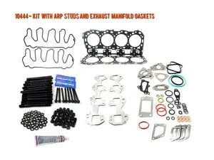 Engine Parts - Cylinder Head Parts - Merchant Automotive - LML Duramax Head Gasket Kit with ARP Studs and Exhaust Manifold Gaskets, 2011-2016