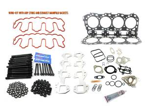 Engine Parts - Cylinder Head Parts - Merchant Automotive - LBZ Head Gasket Kit With ARP Studs And Exhaust Manifold Gaskets, Duramax