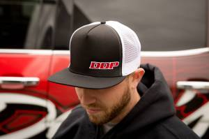 DDP Merchandise - Hats - Dan's Diesel Performance, INC. - DDP Black & White Flat Bill Hat