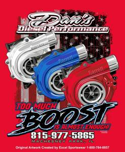 "Dan's Diesel Performance, INC. - DDP Red ""Too Much Boost"" T-Shirt"