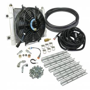 Transmission - Automatic Transmission Parts - BD Diesel - BD Diesel BD Xtrude Transmission Cooler with Fan - Complete Kit 1/2in Lines 1030606-1/2