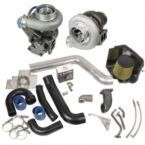 Turbo Chargers & Components - Turbo Charger Kits - BD Diesel - BD Diesel Super B Twin Turbo Kit w/FMW Billet Wheel on Secondary - Dodge 1994-1998 12-vlv 1045310