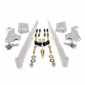 HSP Diesel - 2011-2016 Chevrolet / GMC 58 Inch Bolt On Traction Bars 4 Inch Axle Diameter White HSP Diesel
