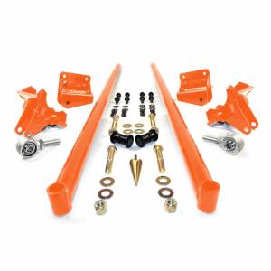 HSP Diesel - 2011-2016 Chevrolet / GMC 58 Inch Bolt On Traction Bars 4 Inch Axle Diameter Orange HSP Diesel