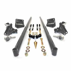 HSP Diesel - 2011-2016 Chevrolet / GMC 58 Inch Bolt On Traction Bars 4 Inch Axle Diameter Dark Grey HSP Diesel