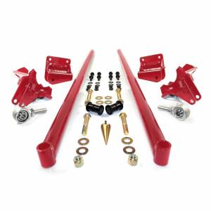 HSP Diesel - 2011-2016 Chevrolet / GMC 58 Inch Bolt On Traction Bars 4 Inch Axle Diameter Candy Red HSP Diesel