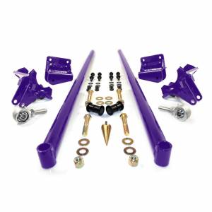 HSP Diesel - 2011-2016 Chevrolet / GMC 58 Inch Bolt On Traction Bars 4 Inch Axle Diameter Candy Purple HSP Diesel
