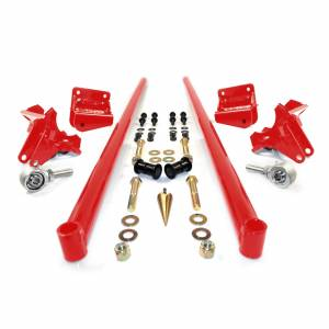 HSP Diesel - 2011-2016 Chevrolet / GMC 58 Inch Bolt On Traction Bars 4 Inch Axle Diameter Blood Red HSP Diesel