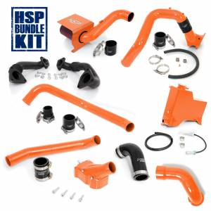 Air Intakes & Accessories - Air Intakes - HSP Diesel - 2007.5-2010 Chevrolet / GMC Deluxe Max Air Flow Bundle Orange HSP Diesel