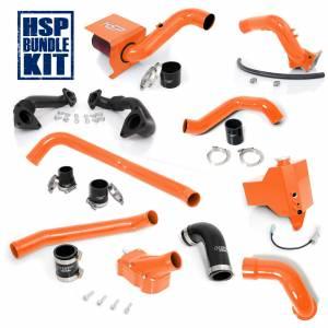 Air Intakes & Accessories - Air Intakes - HSP Diesel - 2004.5-2005 Chevrolet / GMC Deluxe Max Air Flow Bundle Orange HSP Diesel