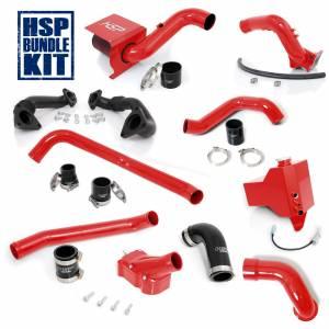 Air Intakes & Accessories - Air Intakes - HSP Diesel - 2004.5-2005 Chevrolet / GMC Deluxe Max Air Flow Bundle Blood Red HSP Diesel