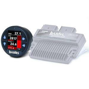 Banks Power Six-Gun Diesel Tuner with Banks iDash 1.8 Super Gauge for use with 2008-2010 Ford 6.4L