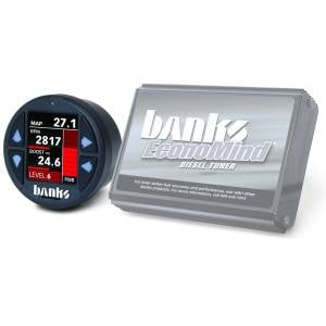 Shop By Part - Programmers & Tuners - Banks Power - Banks Power Economind Diesel Tuner (PowerPack calibration) with Banks iDash 1.8 Super Gauge for use with 2006-2007 Dodge 5.9L