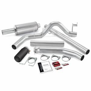 Exhaust - Exhaust Systems - Banks Power - Banks Power Git-Kit Bundle Power System W/Single Exit Exhaust Black Tip 98-00 Dodge 5.9L Extended Cab