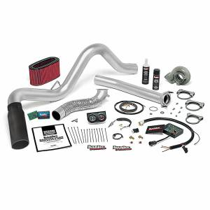 Air Intakes & Accessories - Air Intakes - Banks Power - Banks Power Stinger Plus Bundle Power System W/Single Exit Exhaust Black Tip 94-95.5 Ford 7.3L Automatic Transmission