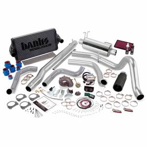 Air Intakes & Accessories - Air Intakes - Banks Power - Banks Power PowerPack Bundle Complete Power System W/Single Exit Exhaust Black Tip 99.5-03 Ford 7.3L F250/F350 Manual Transmission