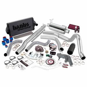 Air Intakes & Accessories - Air Intakes - Banks Power - Banks Power PowerPack Bundle Complete Power System W/Single Exit Exhaust Black Tip 99.5 Ford 7.3L F450/F550 Manual Transmission
