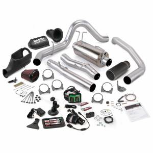 Exhaust - Exhaust Systems - Banks Power - Banks Power Stinger Bundle Power System W/Single Exit Exhaust Black Tip 5 Inch Screen 03-06 Ford 6.0L Excursion
