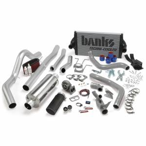 Air Intakes & Accessories - Air Intakes - Banks Power - Banks Power PowerPack Bundle Complete Power System W/OttoMind Engine Calibration Module Black Tail Pipe 94-97 Ford 7.3L CCLB Manual Transmission
