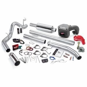 Air Intakes & Accessories - Air Intakes - Banks Power - Banks Power PowerPack Bundle Complete Power System W/Single Exit Exhaust Chrome Tip 01 Dodge 5.9L Extended Cab 245hp