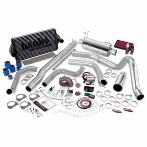 Air Intakes & Accessories - Air Intakes - Banks Power - Banks Power PowerPack Bundle Complete Power System W/Single Exit Exhaust Chrome Tip 99.5-03 Ford 7.3L F450/F550 Manual Transmission