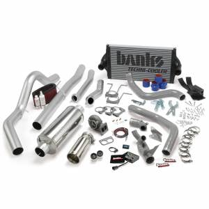 Air Intakes & Accessories - Air Intakes - Banks Power - Banks Power PowerPack Bundle Complete Power System W/OttoMind Engine Calibration Module Chrome Tail Pipe 94-97 Ford 7.3L CCLB Automatic Transmission