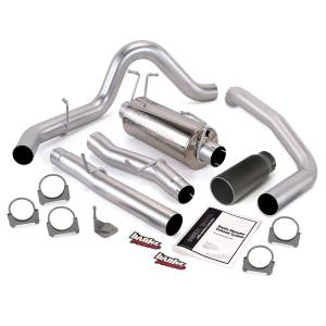 Exhaust - Exhaust Systems - Banks Power - Banks Power Monster Exhaust System Single Exit Black Tip 03-07 Ford 6.0L F450-F550 Crew Cab 200 inch