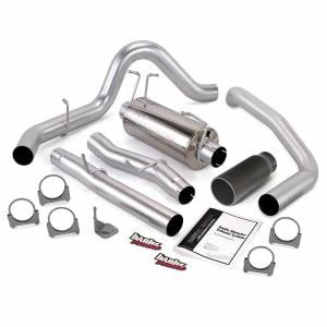 Exhaust - Exhaust Systems - Banks Power - Banks Power Monster Exhaust System Single Exit Black Round Tip 03-07 Ford 6.0L ECLB