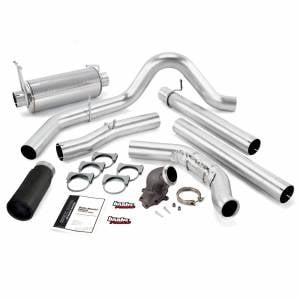 Exhaust - Exhaust Systems - Banks Power - Banks Power Monster Exhaust System W/Power Elbow Single Exit Black Round Tip 00-03 Ford 7.3L Excursion