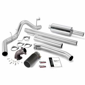 Exhaust - Exhaust Systems - Banks Power - Banks Power Monster Exhaust System W/Power Elbow Single Exit Black Round Tip 98-02 Dodge 5.9L Extended Cab