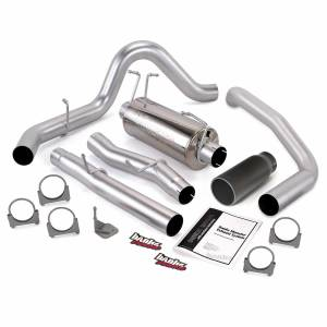 Exhaust - Exhaust Systems - Banks Power - Banks Power Monster Exhaust System Single Exit Black Tip 03-07 Ford 6.0 F450-F550 Crew Cab 176 inch