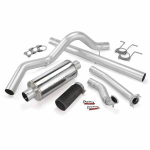 Exhaust - Exhaust Systems - Banks Power - Banks Power Monster Exhaust System Single Exit Black Tip 94-97 Ford 7.3L CCLB
