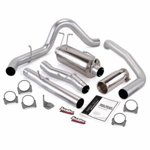 Exhaust - Exhaust Systems - Banks Power - Banks Power Monster Exhaust System Single Exit Chrome Round Tip 03-07 Ford 6.0L SCLB