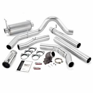 Exhaust - Exhaust Systems - Banks Power - Banks Power Monster Exhaust System W/Power Elbow Single Exit Chrome Round Tip 99-03 Ford 7.3L No Catalytic Converter