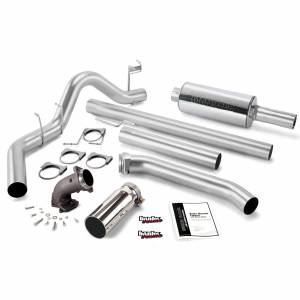 Exhaust - Exhaust Systems - Banks Power - Banks Power Monster Exhaust System W/Power Elbow Single Exit Chrome Round Tip 98-02 Dodge 5.9L Extended Bed