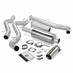 Banks Power Monster Exhaust System Single Exit Chrome Tip 01-04 Chevy 6.6L EC/CCLB