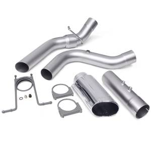 Exhaust - Exhaust Systems - Banks Power - Banks Power Monster Exhaust System 4-inch Single Exit Chrome Tip 17-18 Chevy 6.6L L5P from