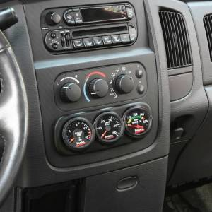 Gauges & Pods - Pods & Mounts - Banks Power - Banks Power Dash Mount Gauge Pod 3 Gauge 2003-2005 Dodge Ram Black