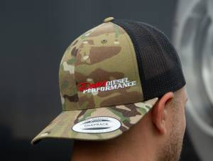 Dan's Diesel Performance, INC. - DDP Black & Multicam SnapBack Hat w/ Side Logo