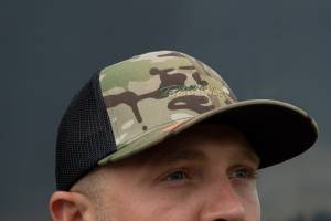 Dan's Diesel Performance, INC. - DDP Black & Multicam Flex Fit Hat w/ Full Camo Logo