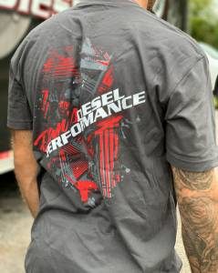 Dan's Diesel Performance, INC. - DDP Gray Abstract Logo T-Shirt